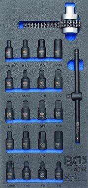 Bandeja de herramientas 1/3: tomacorrientes de aceite / llave de cadena de filtro de aceite 22 piezas