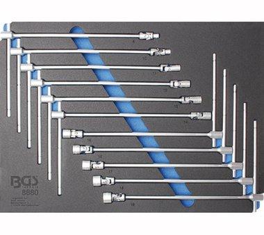 Tool Tray 3/3: Juego de empalmes para juntas universales con mango en T 8 - 19 mm 11 piezas