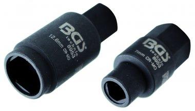 3-pt. Zocalos para bombas de inyeccion, 7 y 12,6 mm
