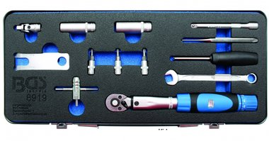 Juego de herramientas para sensores de neumaticos (TPMS) 13 piezas