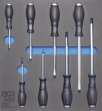 Bandeja de herramientas 2/3: destornilladores cruzados y ranurados 8 piezas