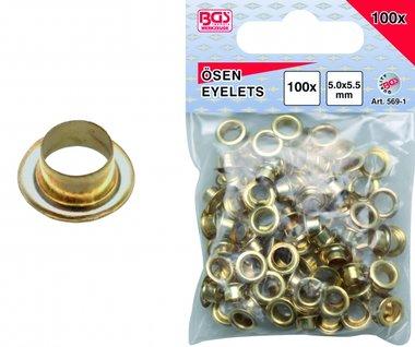 100 piezas Ojales 5.0 mm