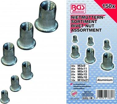 150 piezas surtido de remaches de aluminio