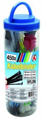 450 piezas Colored Cable Tie Surtido