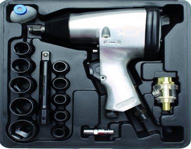 Juego 16 piezas de pistola neumatica de impacto 1/2, 320 Nm