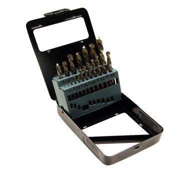 Juego 19 piezas de brocas HSS 1-10 mm