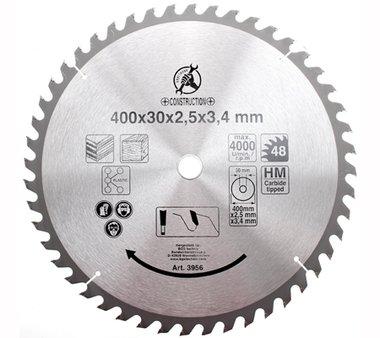 Hoja de sierra circular con puntas de carburoi, diametro de 400 mm, 48 dientes