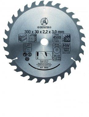 Hoja de sierra circular con puntas de carburo, diametro de 300 mm, 30 dientes