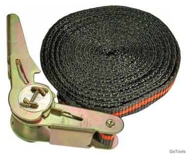 Eslinga con trinquete, 5 m, 25 mm de ancho