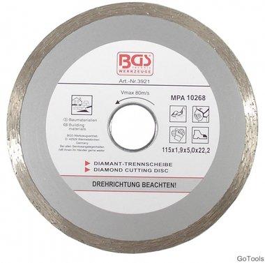 Disco de corte diamante, corte continuo 115 mm