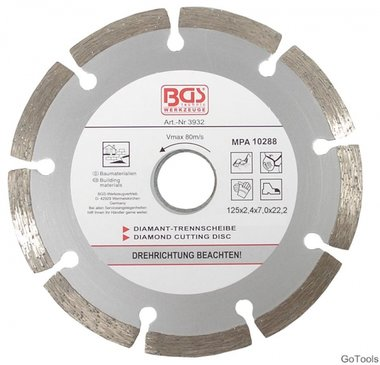 Disco de corte diamante segmentado 125 mm