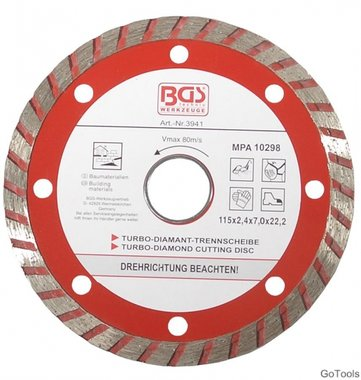 Disco de corte turbo diameter 115 mm