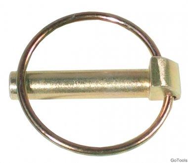 Pasador con clip de seguridad, 8 mm de diámetro