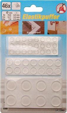 46 piezas topes elasticos transparentes auto adhesivos