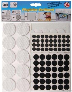 131 piezas Fieltros surtidos, auto-adhesivos