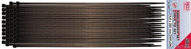 50 piezas de bridas, 4.5 x 350 mm negras