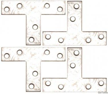Juego 4 piezas doble escuadra, 70x50x16 mm