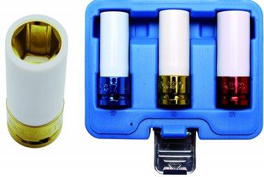 Juego de vasos de impacto con protector de plastico entrada  (1/2) 3 piezas