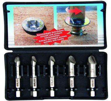 5 piezas de extractores de tornillos Conjunto