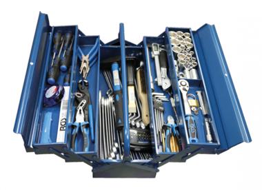 Caja metalica incl. herramientas 137 piezas