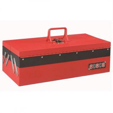 Caisse herramientas de metal con 3 compartimentos