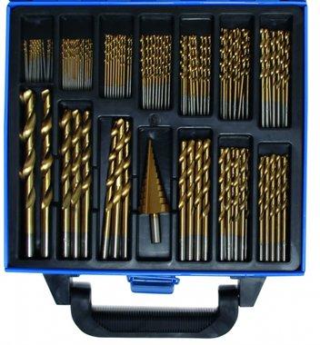 119 piezas de Twist & Taladro Paso Conjunto HSS, titanio recubierto, 1 - 10 mm