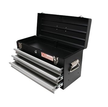 Caja de herramientas de metal, vacios, 3 cajones