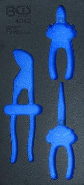 1/3 bandeja de herramientas (408x189x32 mm), vacío, de 3 piezas Juego de alicates