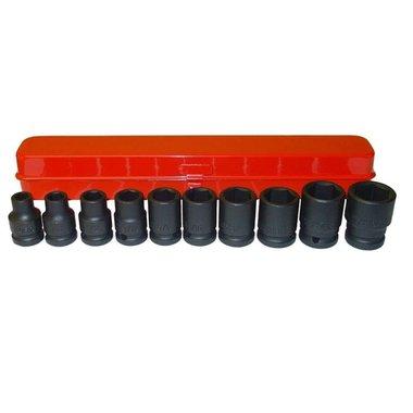 Caja de 10 vasos de impacto de 1/2 pulgadas