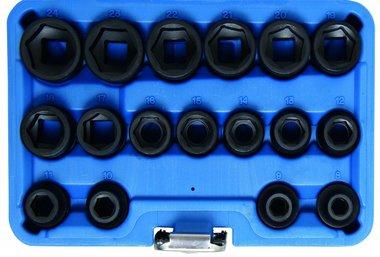 Power-sockets, 12,5 (1/2), de perfil bajo, 17 uds.