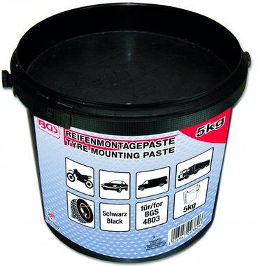 Reifenmontagepaste, negro, 5 Kg cubo