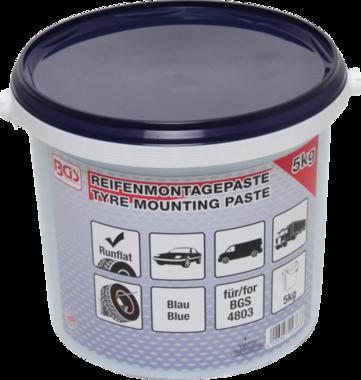 Reifenmontagepaste, azul para los neumáticos run-flat, 5 Kg cubo