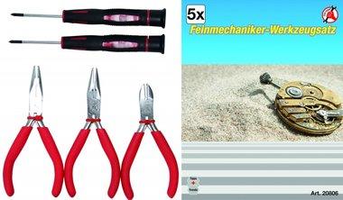 Mecánica de precisión conjunto de herramientas, 5 unid.