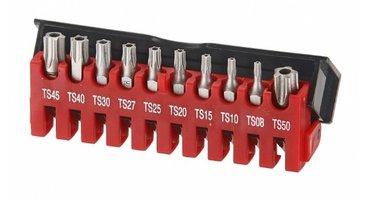 Juego de 10 brocas Torx TS 5-perforados paneles