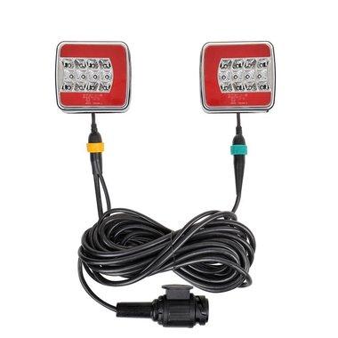 Luces LED de remolque 4F con imanes de 7,5 + 2,5M de cable 13P.