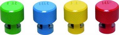 Tapones de desinflado de neumáticos codificados por colores para válvulas RDKS 4 piezas