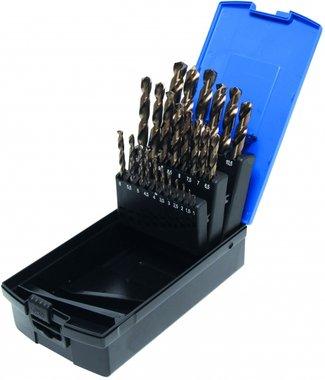 Juego de taladros de 26 piezas, HSS-G M35 Acero cobalto, 1-13 mm