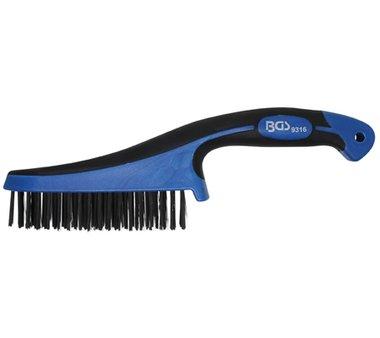 Cepillo de acero con mango de plastico, 282 mm