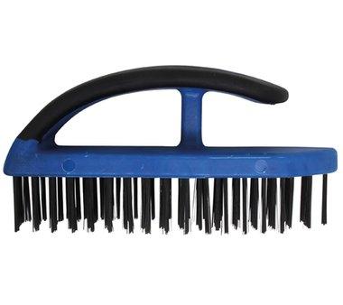 Cepillo de alambre de acero con mango de plastico, 172 mm