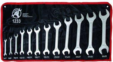Juego de llaves macho abierto de 12 piezas, 6x7-30x32 mm