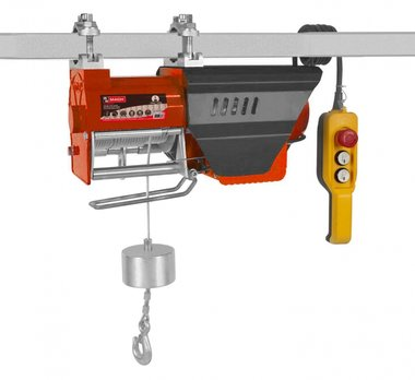 Polipasto 230V rápida tipo, rápida de 15 m / min. Especialmente desarrollado para su uso en la construcción.