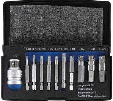 Juego de extractor de tornillo de 11 piezas para T-Star danado (para Torx) T10-T55