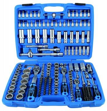 Juego de llaves de vaso Gear Lock entrada 6,3 mm (1/4) 10 mm (3/8) / 12,5 mm (1/2) 192 piezas