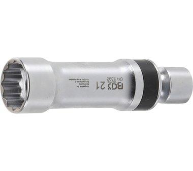 Spark junta universal del zócalo del enchufe, 21 mm, 12 pt, con muelle de retención