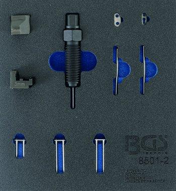 Juego suplementario para dispositivo de remachado de cadena de sincronizacion (BGS 8501), adecuado para pasadores de cadena de 3 mm