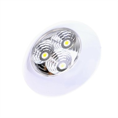 Ceiling light / surface-mounted luminaire 3-leds 12V 290lm ø95x25mm