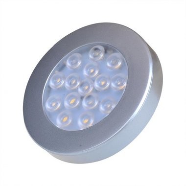 Surface mounted spotlight 15-leds 12V 200lm Ø70x12mm