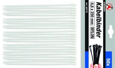 50 piezas Cable Tie Set, 4,8 x 250 mm