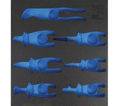 2/3 Bandeja de herramientas (408x378x32 mm), vacia, para alicates de 7 piezas