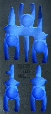 1/3 Bandeja de herramientas (408x189x32 mm), vacía, para alicates VDE de 5 piezas Juego